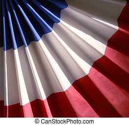 Red white and blue bunting - Square image of red, white and...