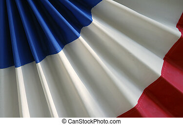Red white and blue bunting - Red, white and blue patriotic...
