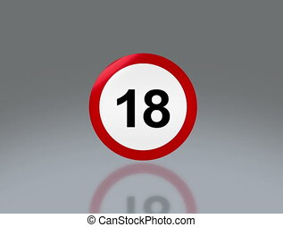 adult sign 18 adult sign no cross - the notice of 18 adult...