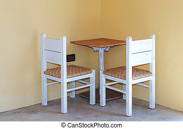 chairs table