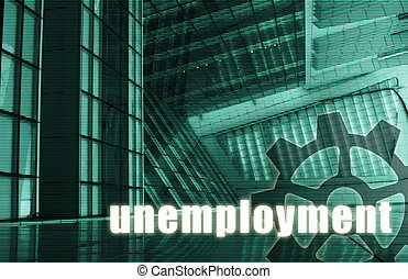 Unemployment Futuristic as a Art Abstract Background
