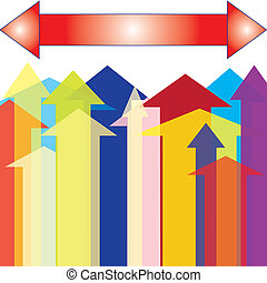 Isolated Colorful Arrow Upward Point - The Colorful Arrow up...