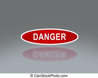 oval signage of danger 4K - the notice of traffic sign for...