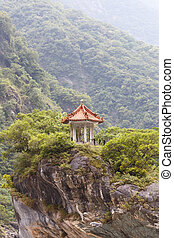 Traditional Pavilion atop Cliff