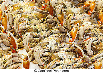 Cooked Crab At Market