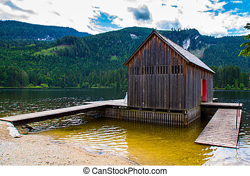 House - Wooden house in high mountains Alps Austria