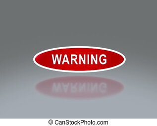 oval signage of warning 4K - the notice of traffic sign for...