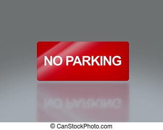 rectangle signage of NO parking 4k - the notice of traffic...
