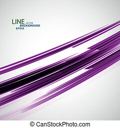 Vector color abstract beautiful twirl line eps
