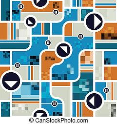 Techno style seamless pattern.
