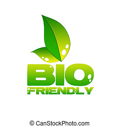 eco icon - bio friendly icon