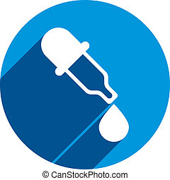 Dropper vector icon, medical pipette, eyedropper.