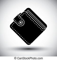 Wallet vector simple single color icon.