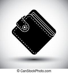 Wallet vector simple single color icon.