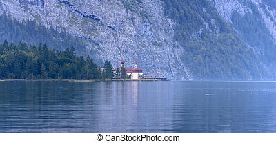 Chapel of Sankt Bartholoma, Konigssee - The church of Sankt...