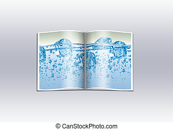 Book - Cover of the opened book with the floating ice