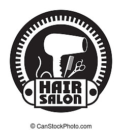Hair salon design over white background, vector illustration