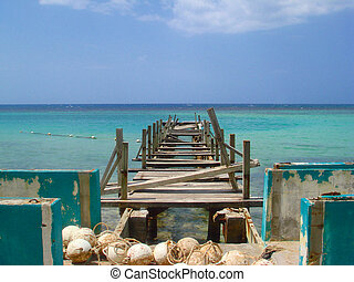 Broken Pier in Jamaica
