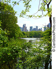 New York, New York - A view of uptown