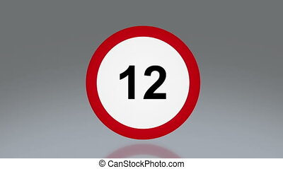road sign Speed limit HD