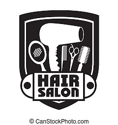 Hair salon design over white background, vector illustration