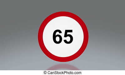 road sign speeding