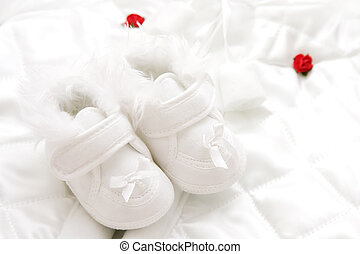Baby shoes - Baby girl shoes for christening.