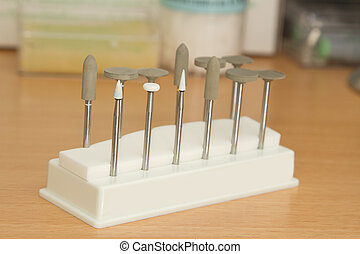 Porcelain adjustment tool kit for dental porcelain teeth in...