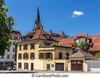 Buildings in the city center of Konstanz, Germany