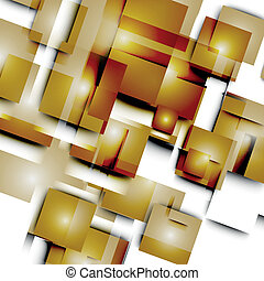 Abstract vector lines and squares.