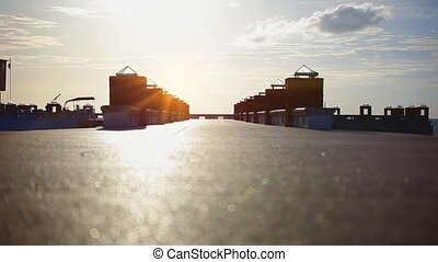 Road from bridge During Sunrise on Koh Samui Thailand. Video...