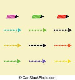 Set of vector arrows eps10