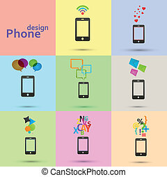 Set of vector phones icons