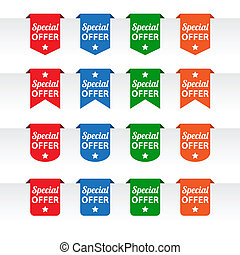 Special offer paper tag labels
