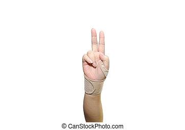 faixa, mão