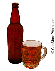 Traditional bottle of Craft Beer - Traditional Craft beer...