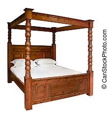 Traditional Four Poster Bed - Traditional wooden Four Poster...