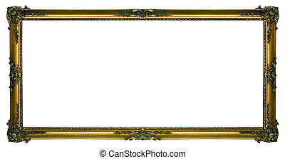 Large Gold Landscape Picture Frame - Large gold Gilded...