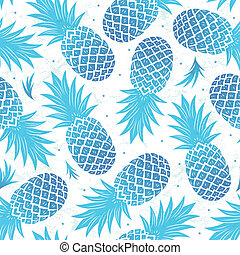 Vintage pineapple seamless - Blue Vintage pineapple seamless...