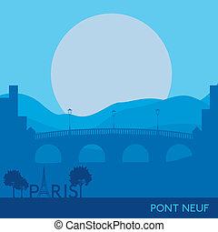 Paris design over landscape background, vector illustration