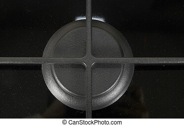 black gas burner