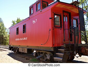 Caboose - An old red caboose