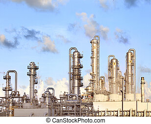 refinery petrochemical plant in heavy industry estate