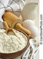 Homemade gluten free flour blend from rice flour, millet...
