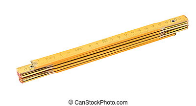 Folding ruler isolated