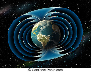 Earth magnetic field - Magnetic field surrounding planet...
