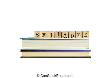syllabus word on wood stamps and books - syllabus word on...