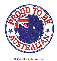 Proud to be australian stamp - Proud to be australian grunge...