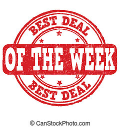 Best deal of the week stamp - Best deal of the week grunge...