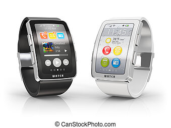 Smart watches - Creative business mobility and modern mobile...